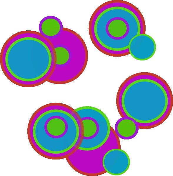 Pretty Abstract Circles Clip Art at Clker