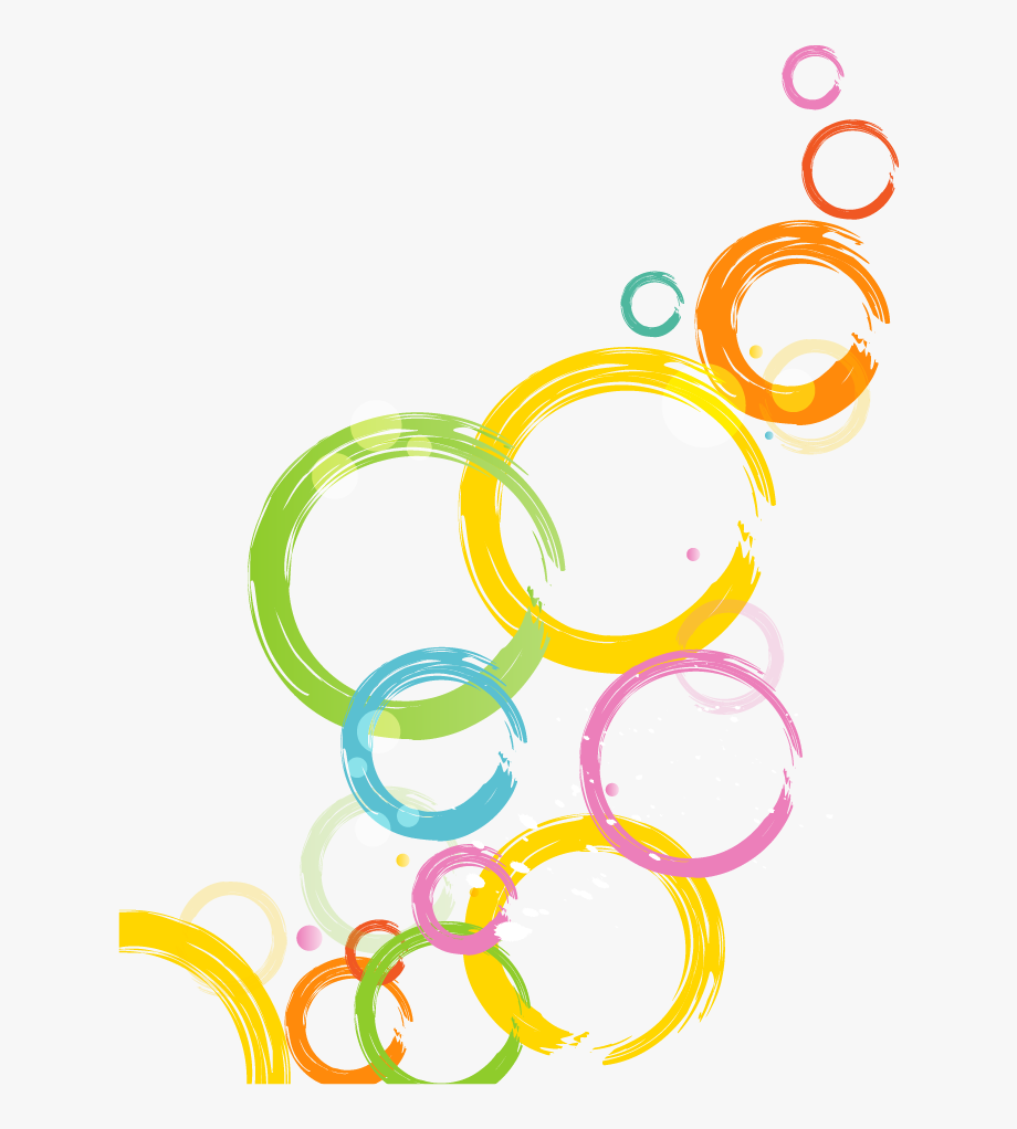 Circle clipart abstract. Cartoon colorful png image