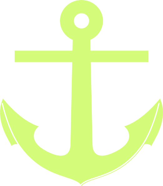 Circle clipart anchor. Green clip art at