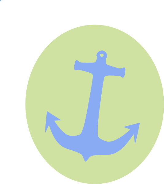 Green clip art at. Circle clipart anchor