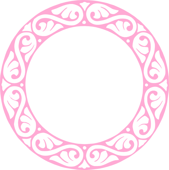 E clipart ornamental. Pink circle clip art