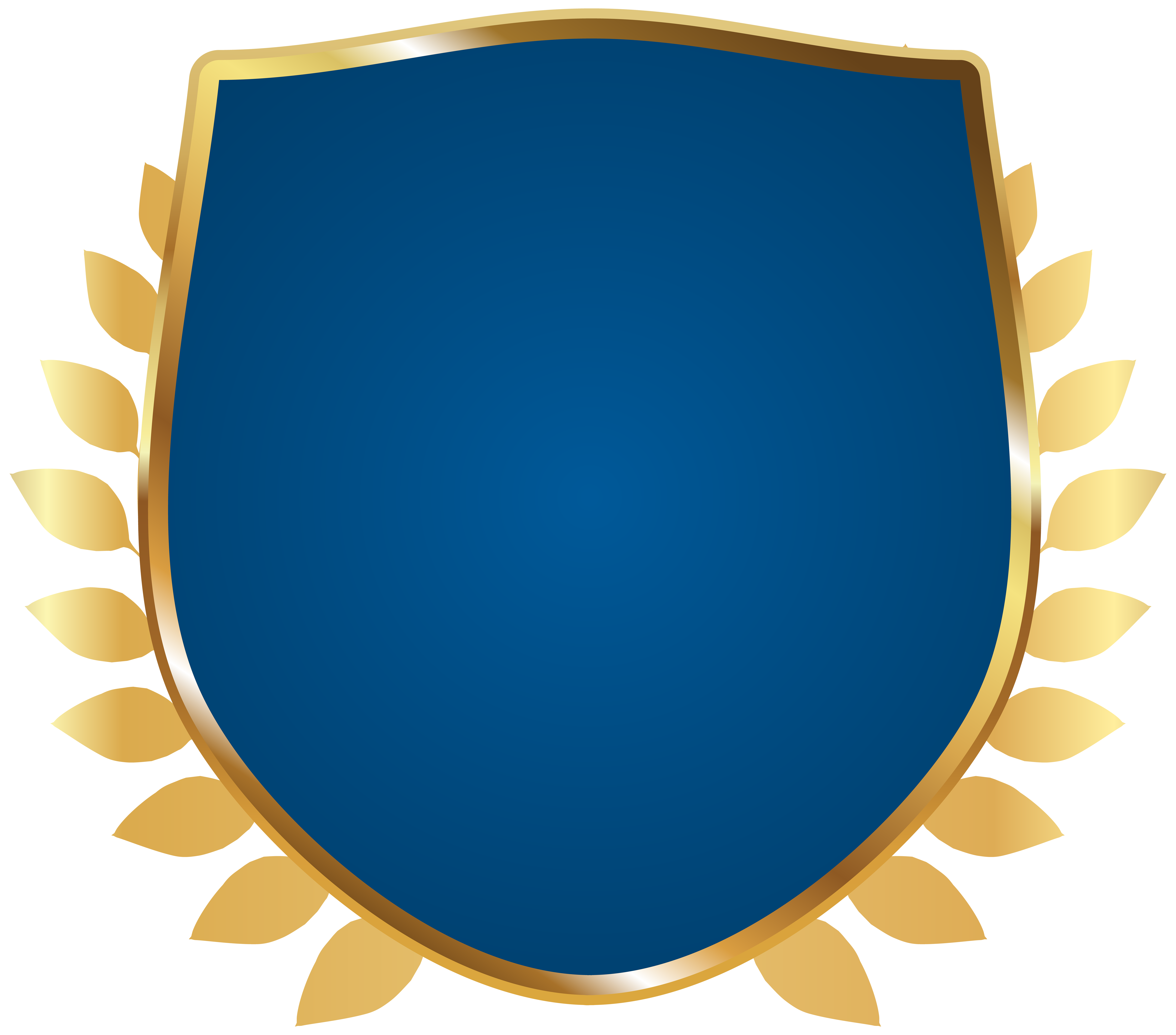Badge clipart transparent background. Blue png image gallery
