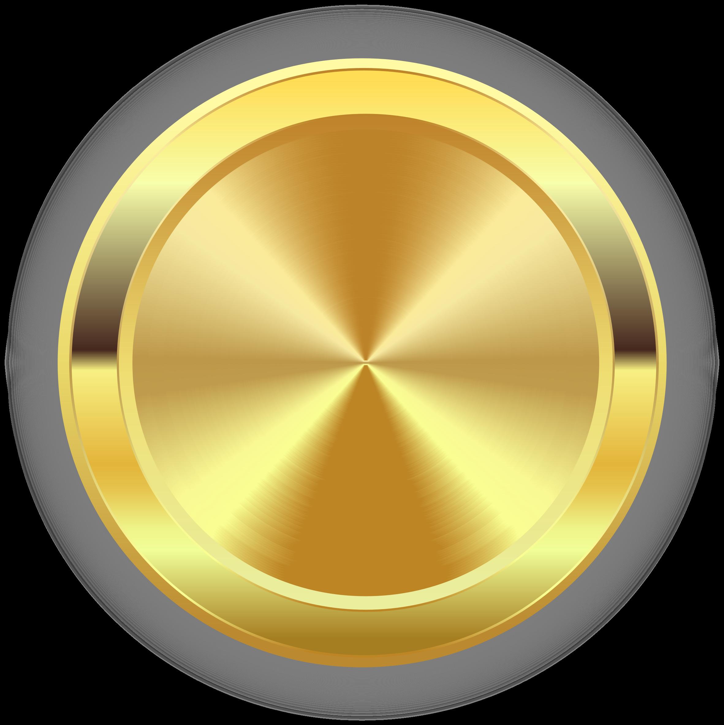 Circle clipart badge. Round golden big image