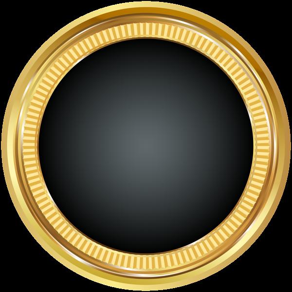 Seal gold black png. Circle clipart badge