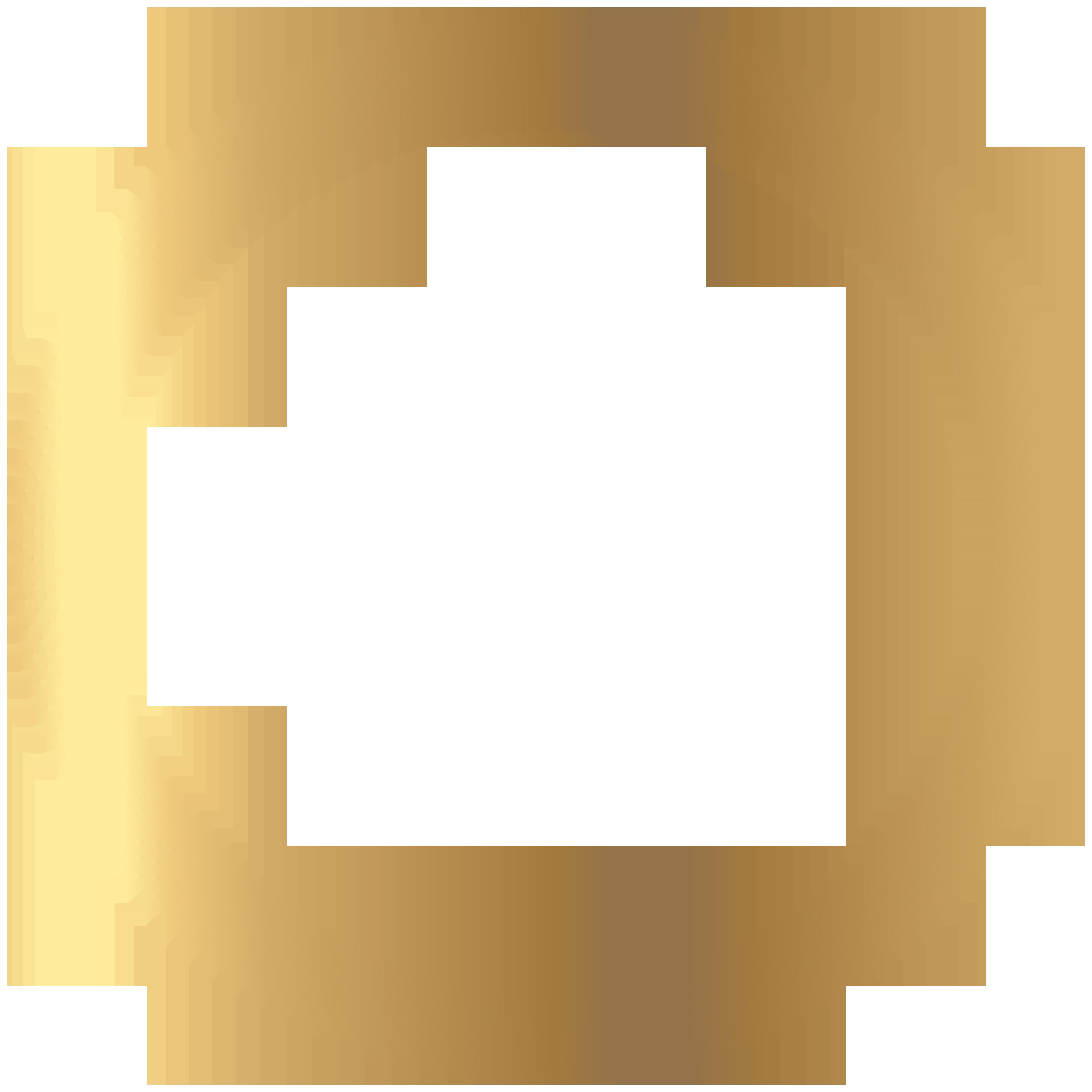Deco gold round transparent. Circle border png