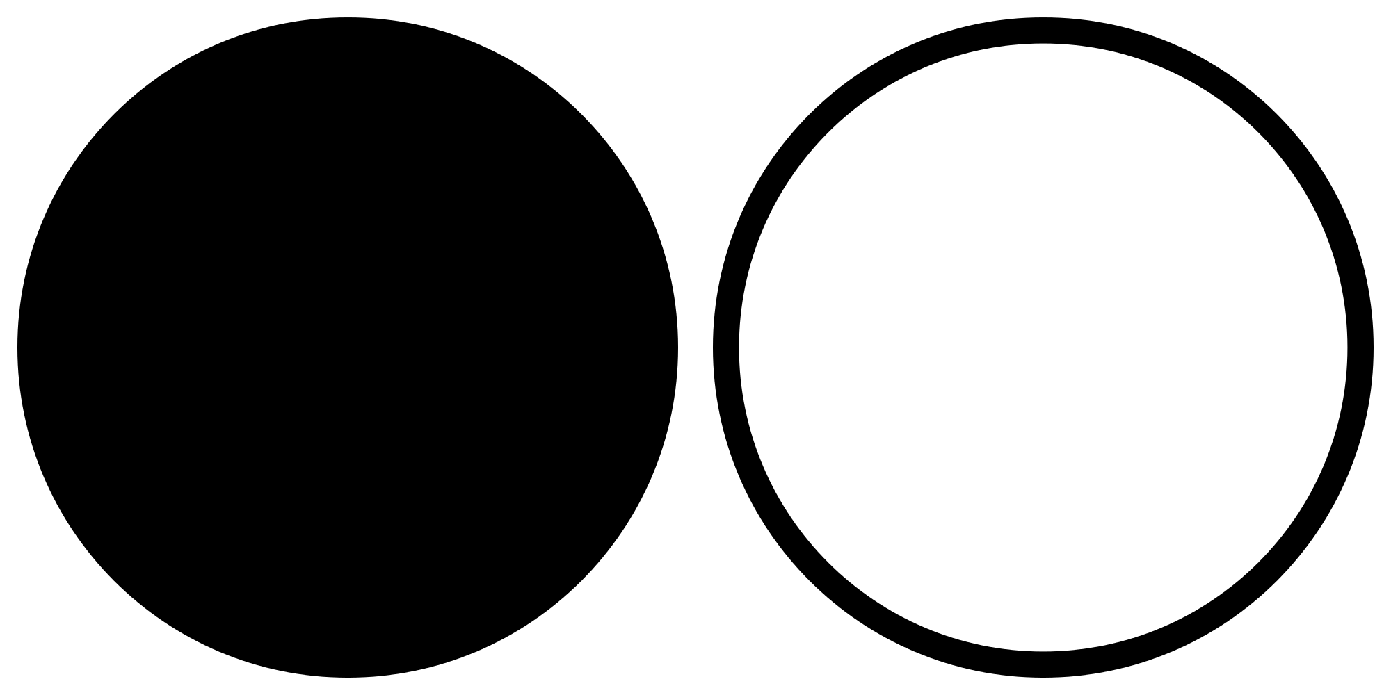 circle clipart black and white  circle black and white