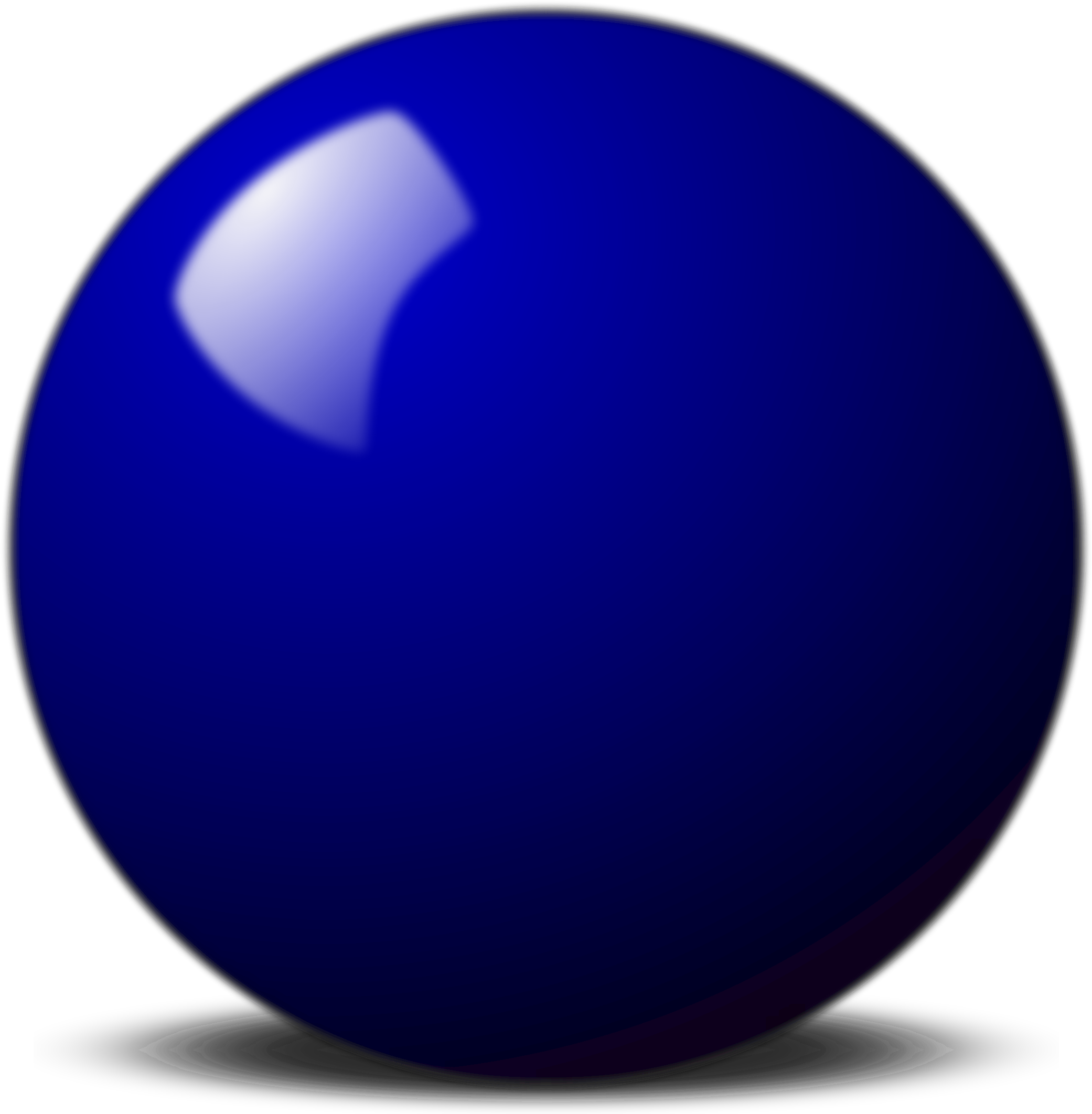 Snooker ball big image. Circle clipart blue