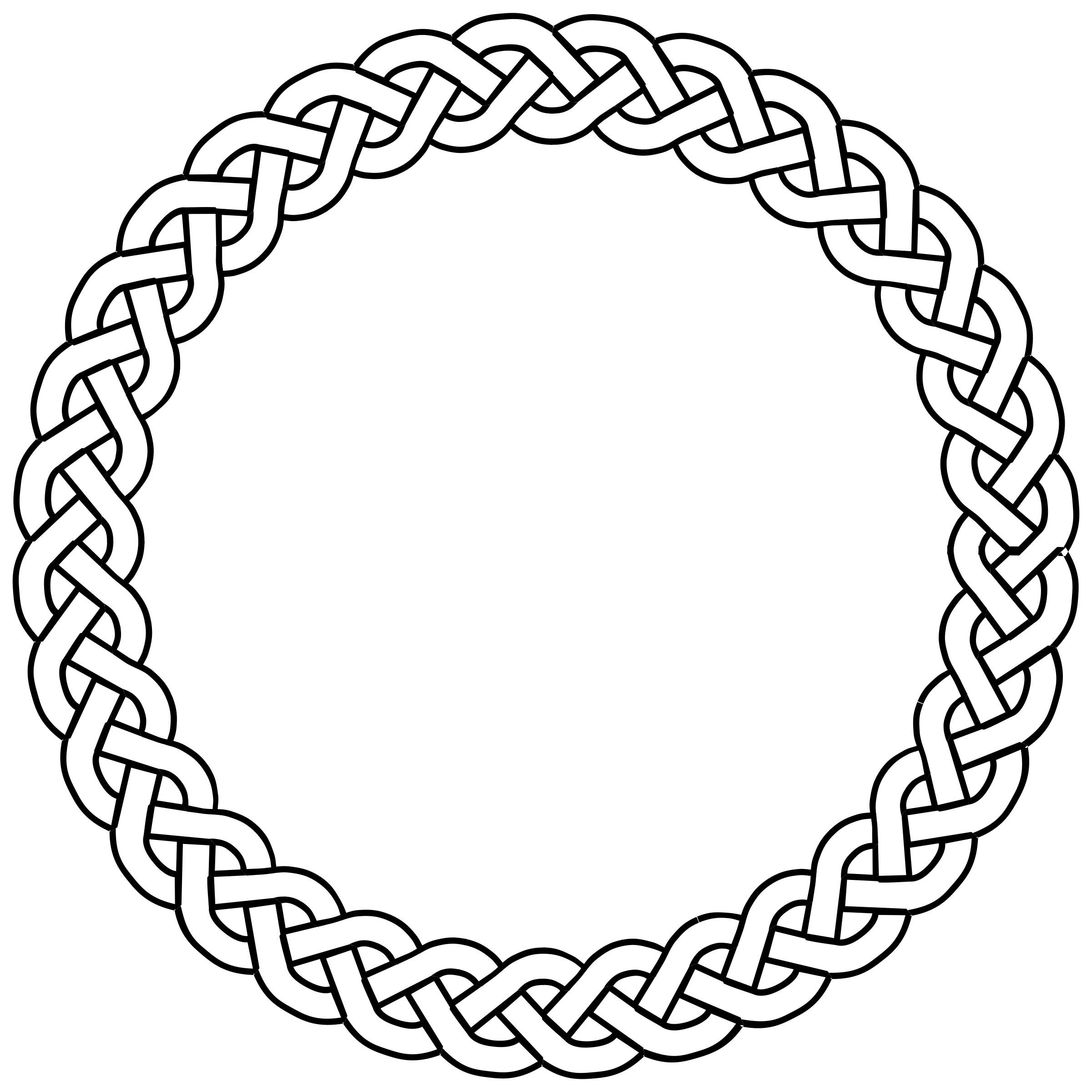 Circle border png. Clipart plait big image