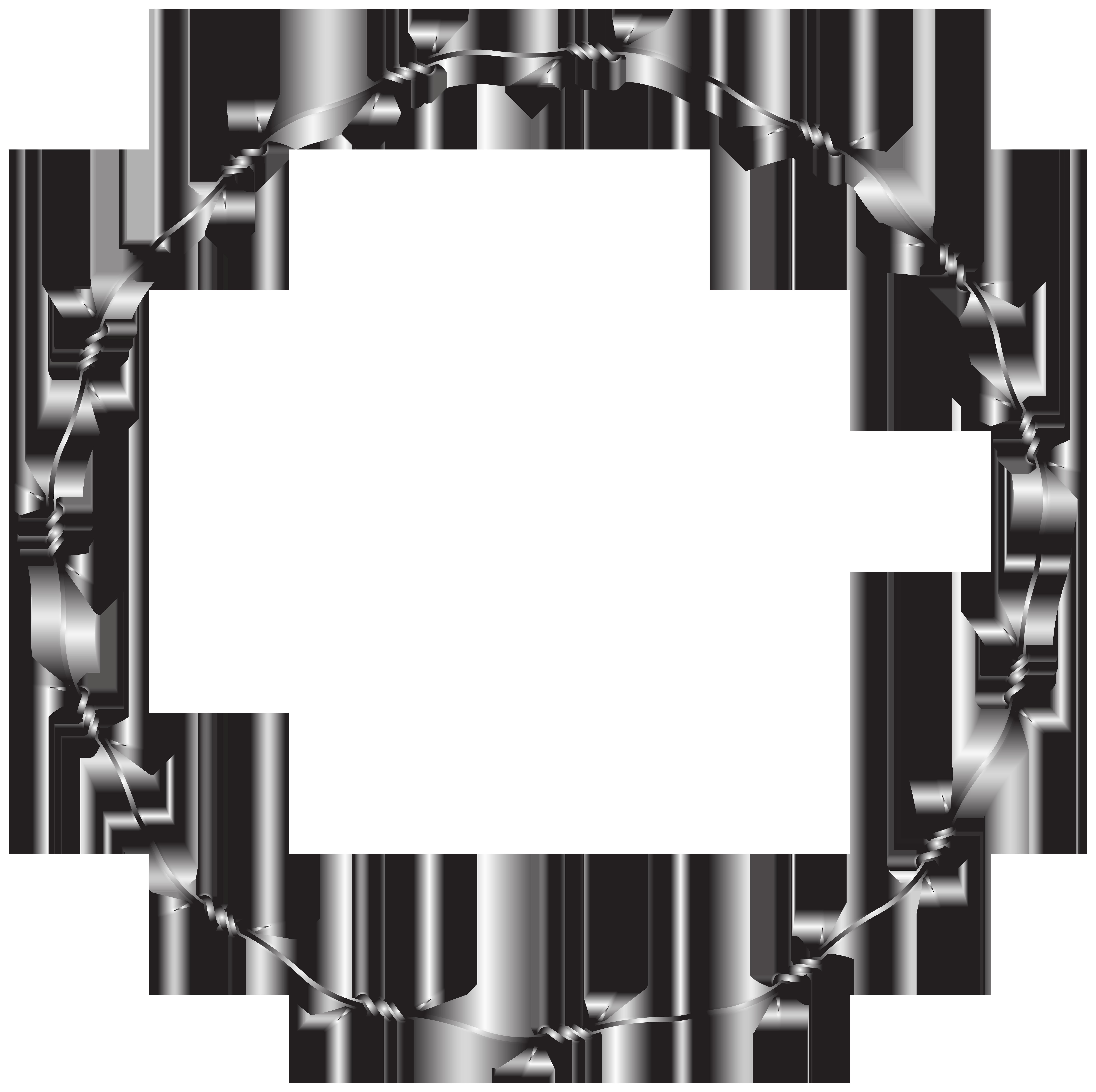 Wire round border transparent. Circle clipart boarder