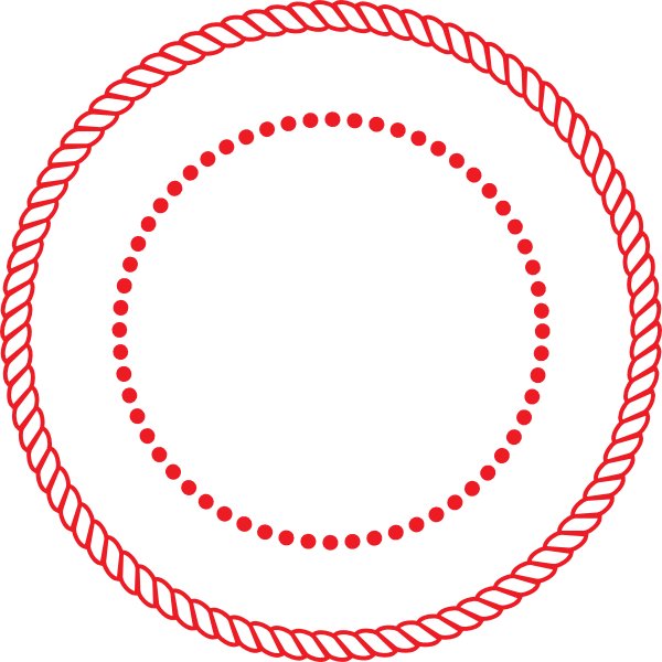 Round Circle Rope Border W Dots Seal Clip Art at Clker