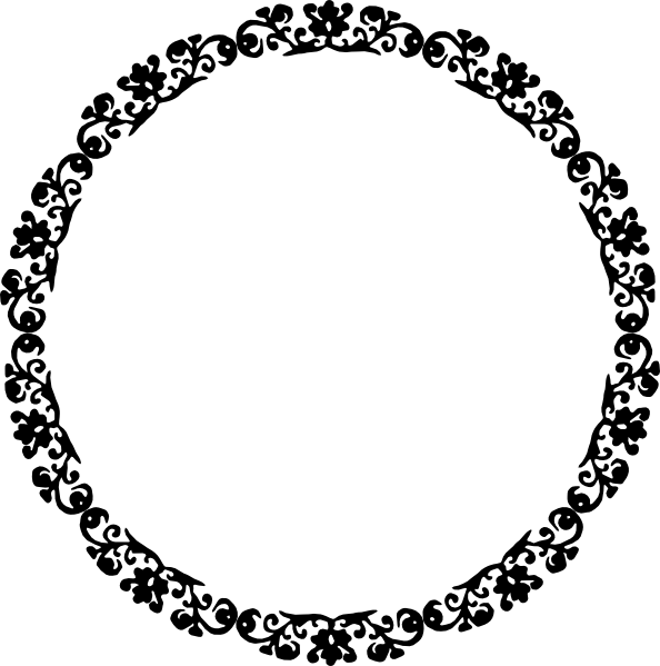 Cycle clipart circular. Free circle border cliparts