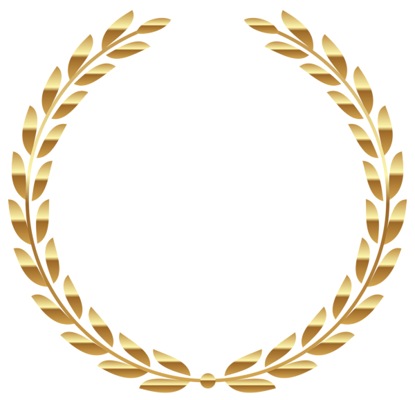 Transparent gold png picture. Feather clipart wreath
