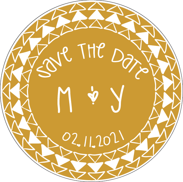 Save the date aztec. Circle clipart boho