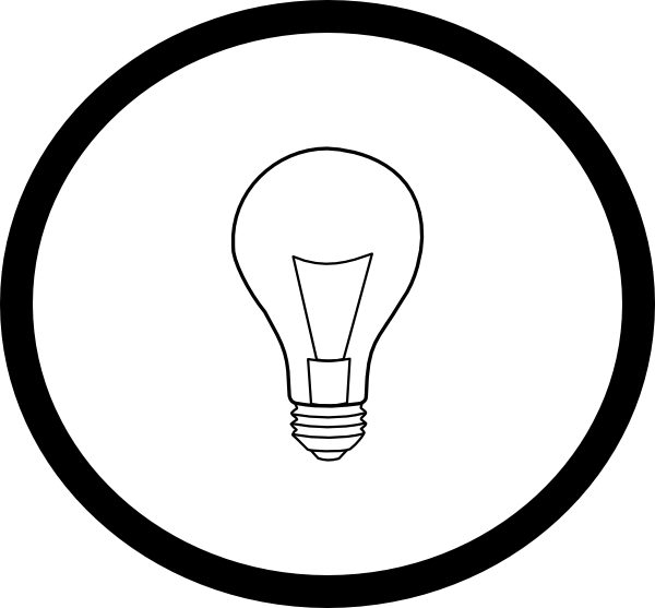 Circle clipart book. Light bulb in clip