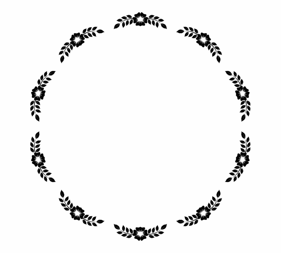 Circle clipart borders. And frames picture floral