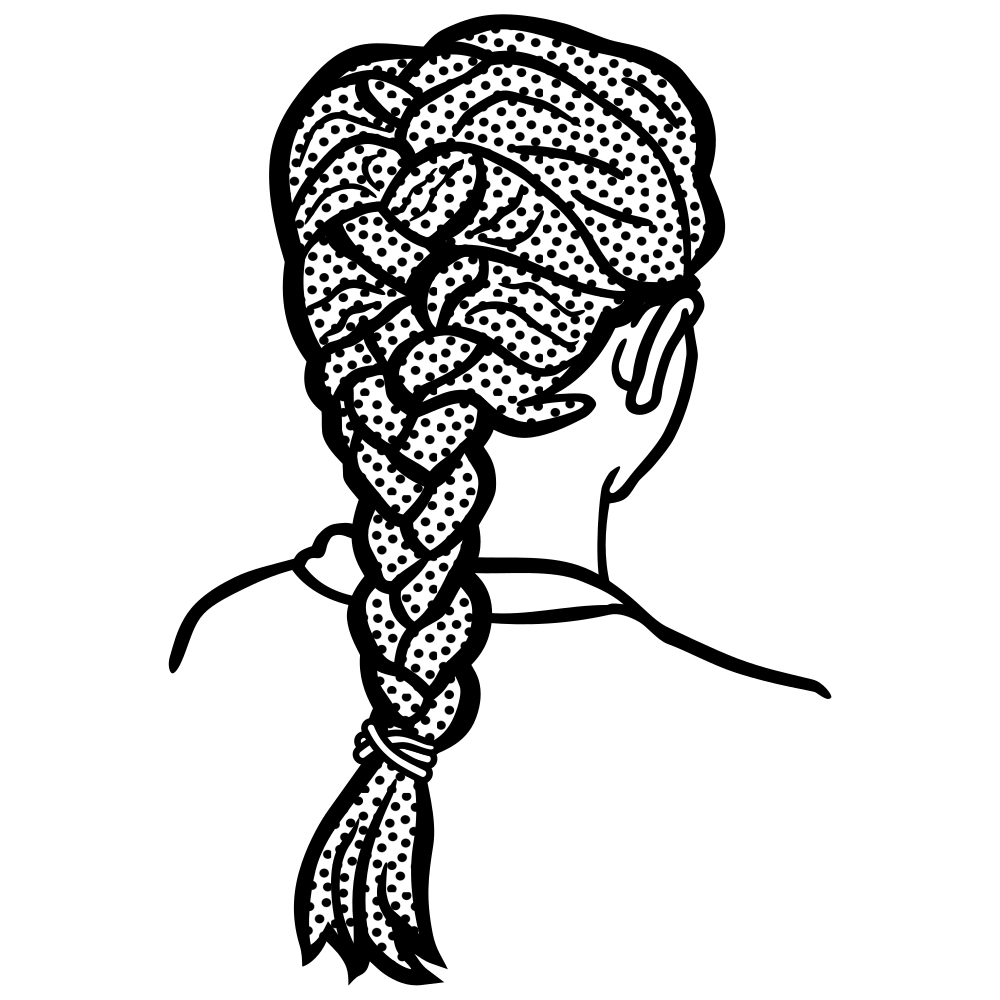 Onlinelabels clip art braid. French clipart easy