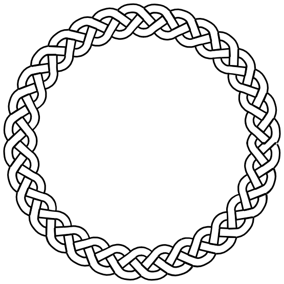 plait border circle. Oval clipart round mat