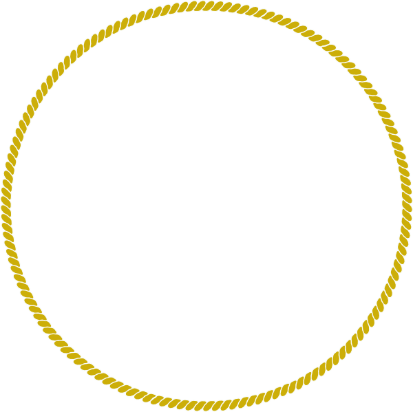 Rope gold clip art. Circle clipart braided