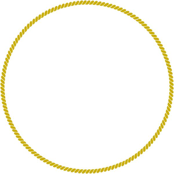 Gold circle frame png. Rope clip art at