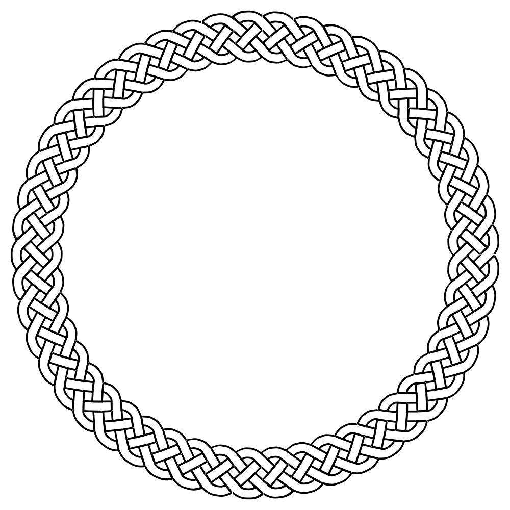 Circle clipart braided. Onlinelabels clip art plait