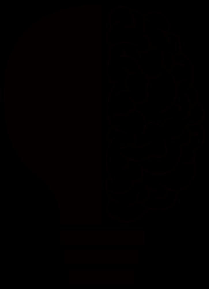 Onlinelabels clip light bulb. Clipart brain line art