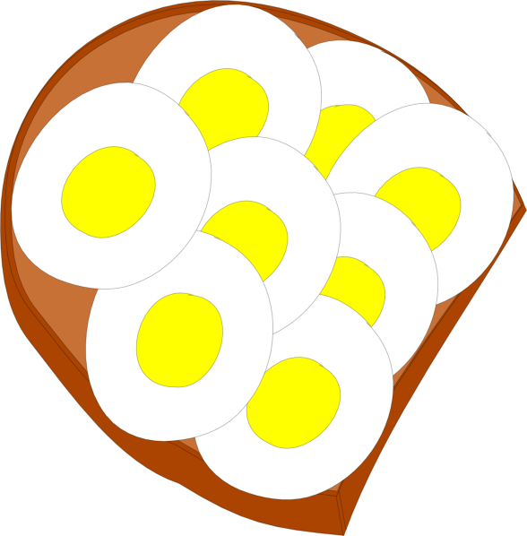 Circle clipart bread. Egg sandwich clip art
