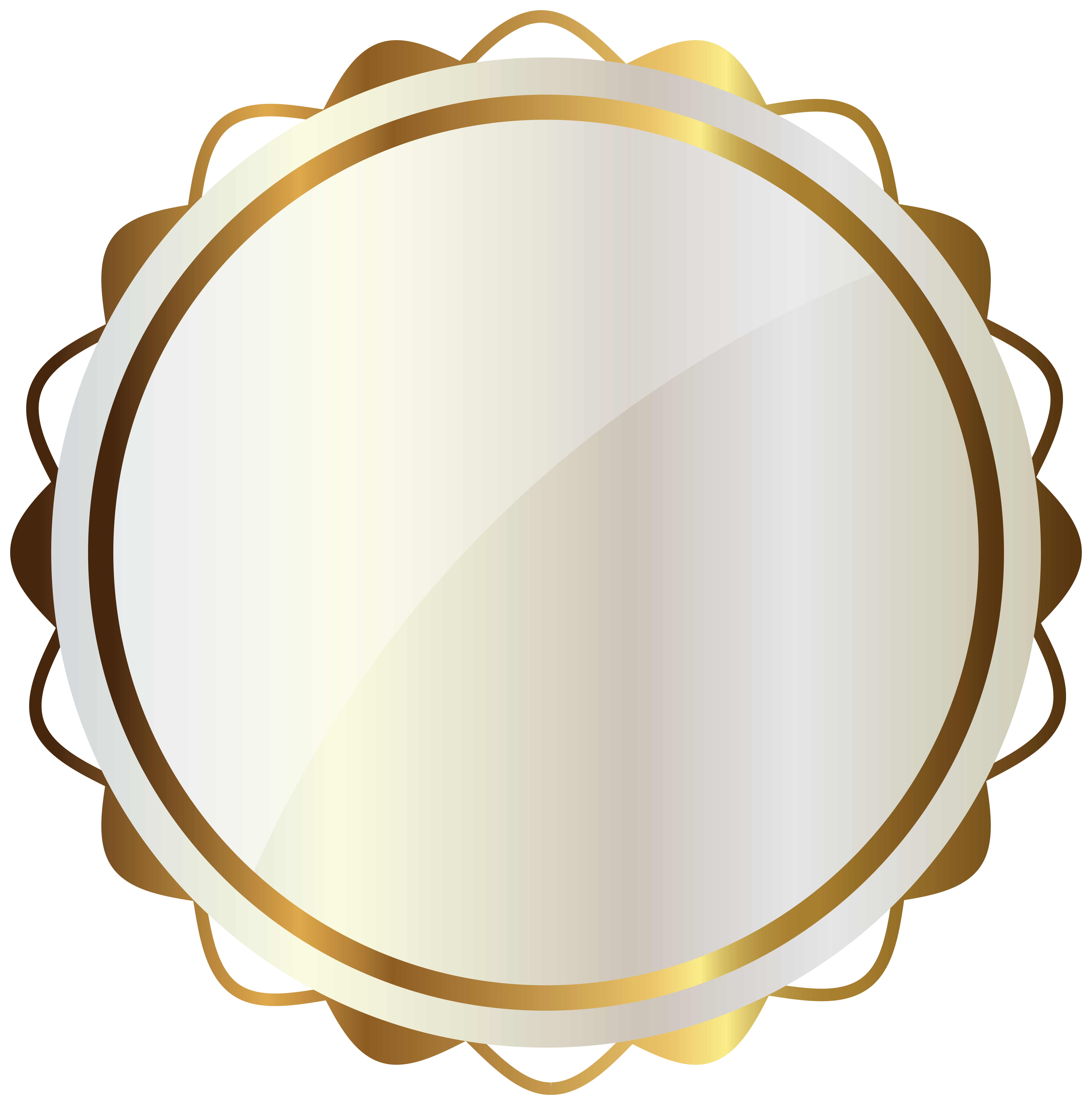 Circle clipart bread. White seal with gold