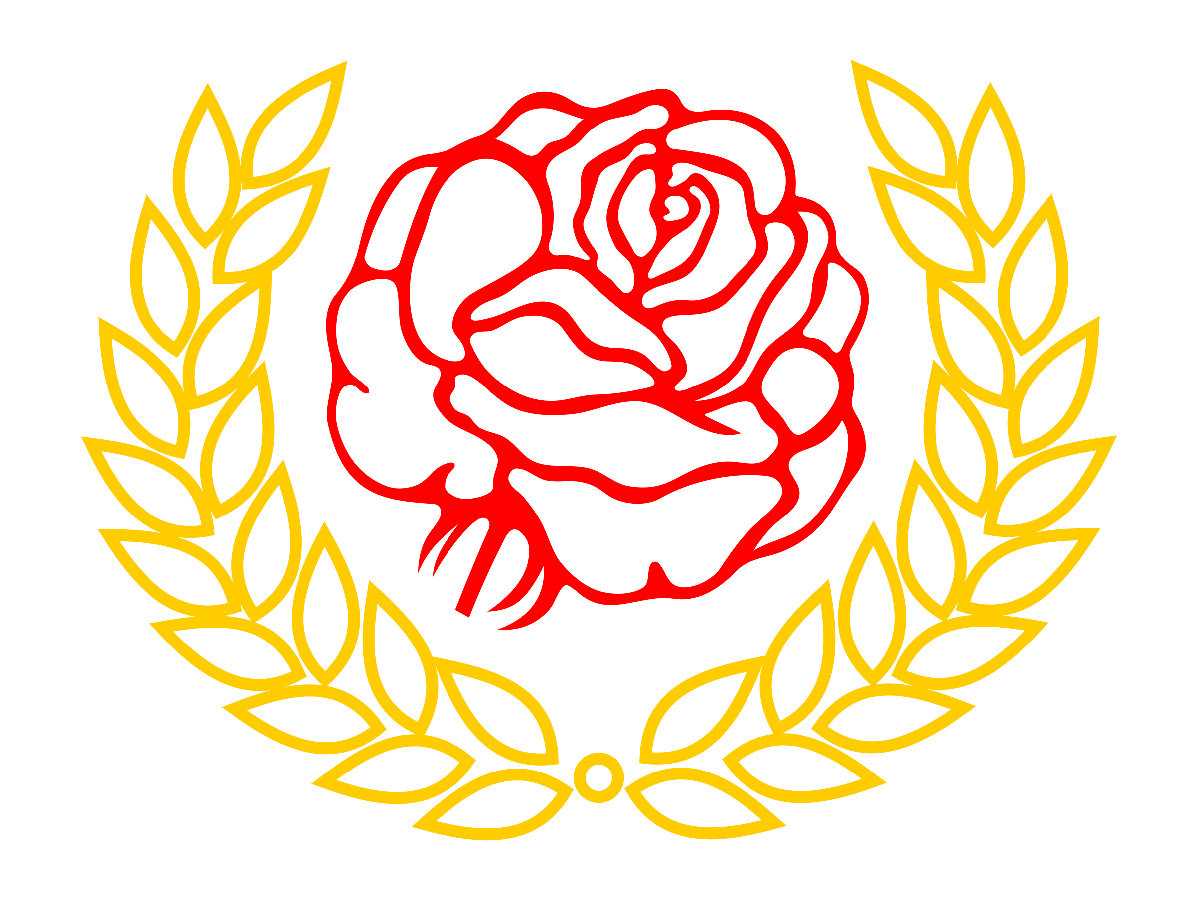 And roses. Circle clipart bread