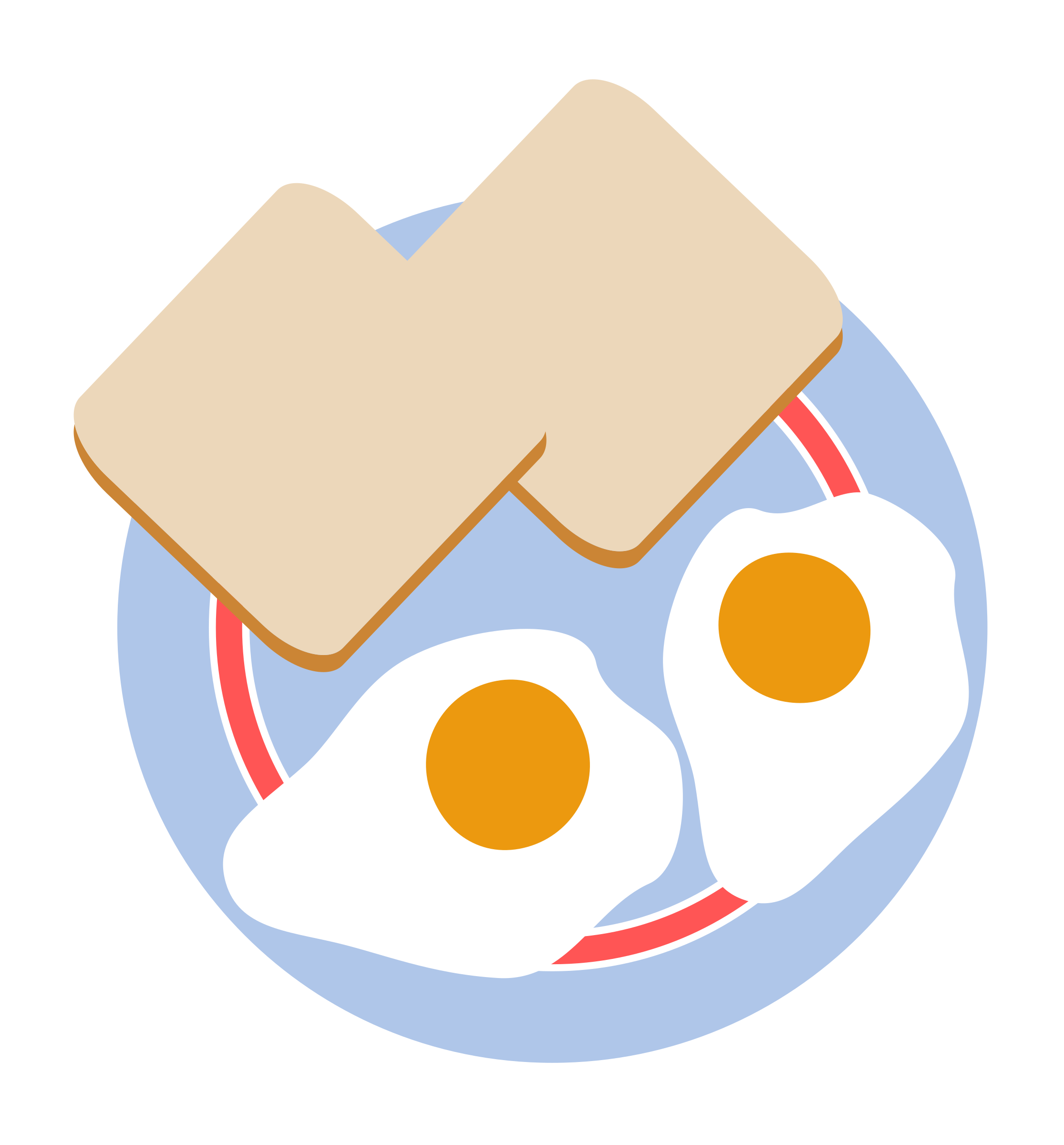 Circle clipart bread. Bull s eye eggs