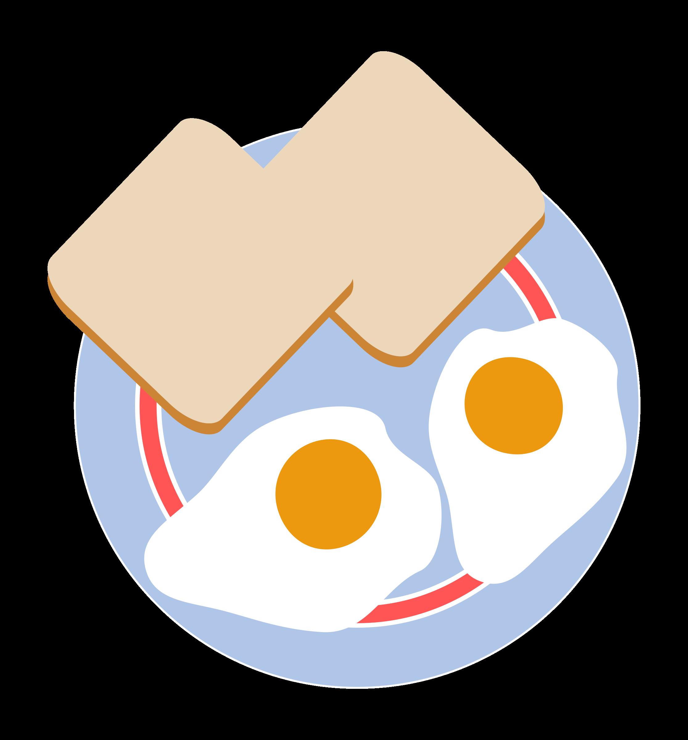Circle clipart bread. Bull s eye eggs