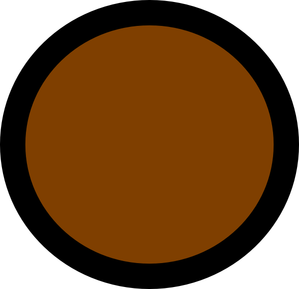Circle clipart brown. Clip art at clker