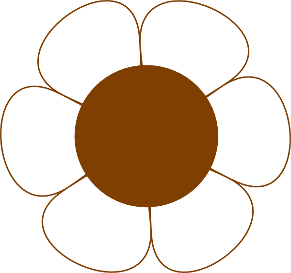 Circle clipart brown. Flower clip art at