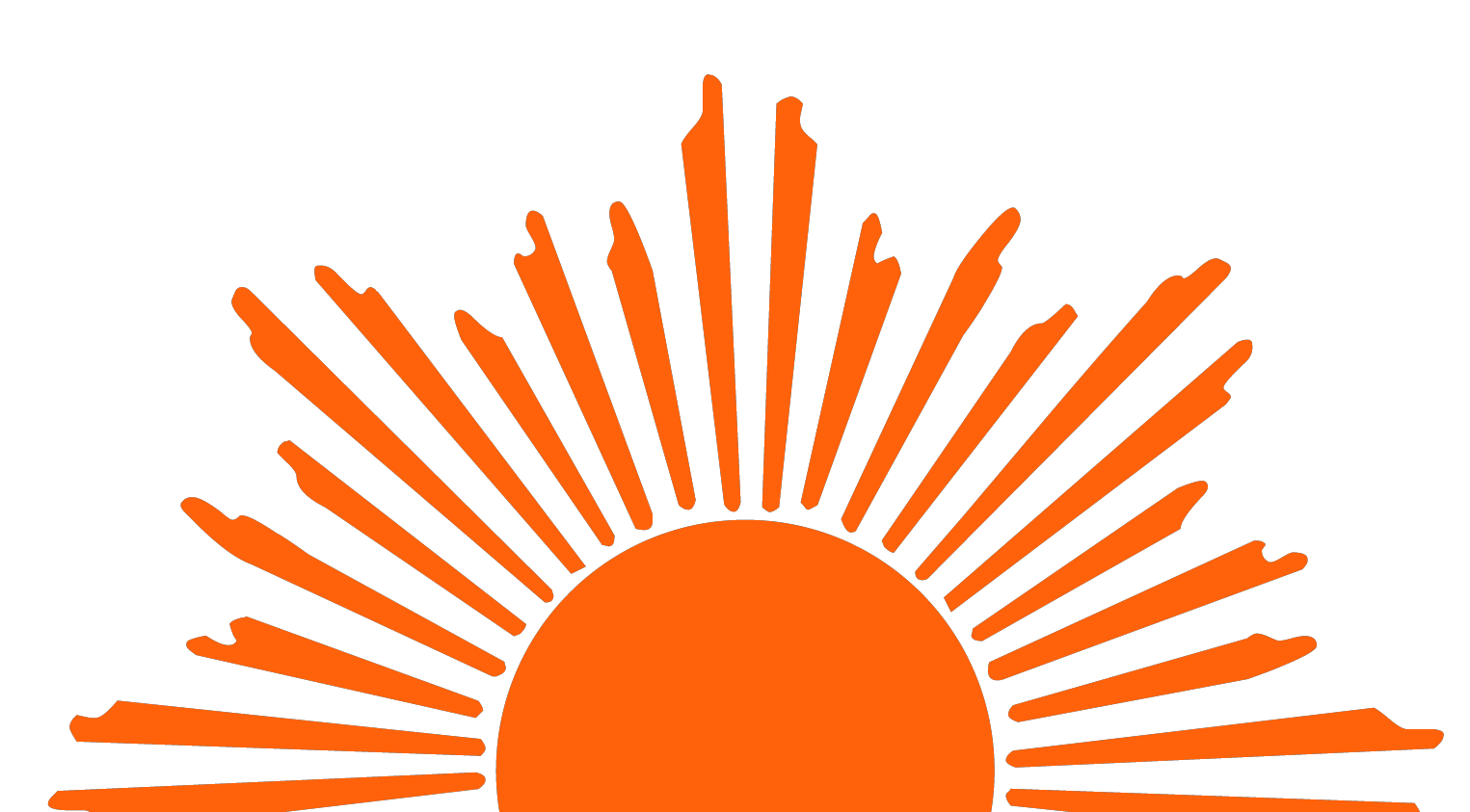 Rising sun cliparts co. Sunset clipart logo