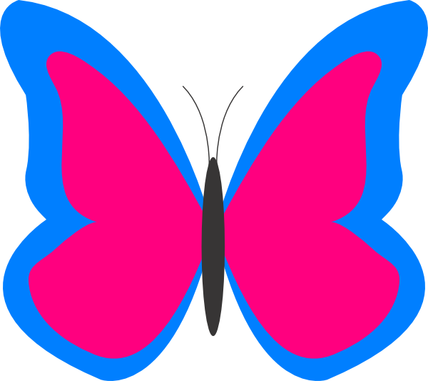 Pink free images clipartix. Clipart butterfly royal blue