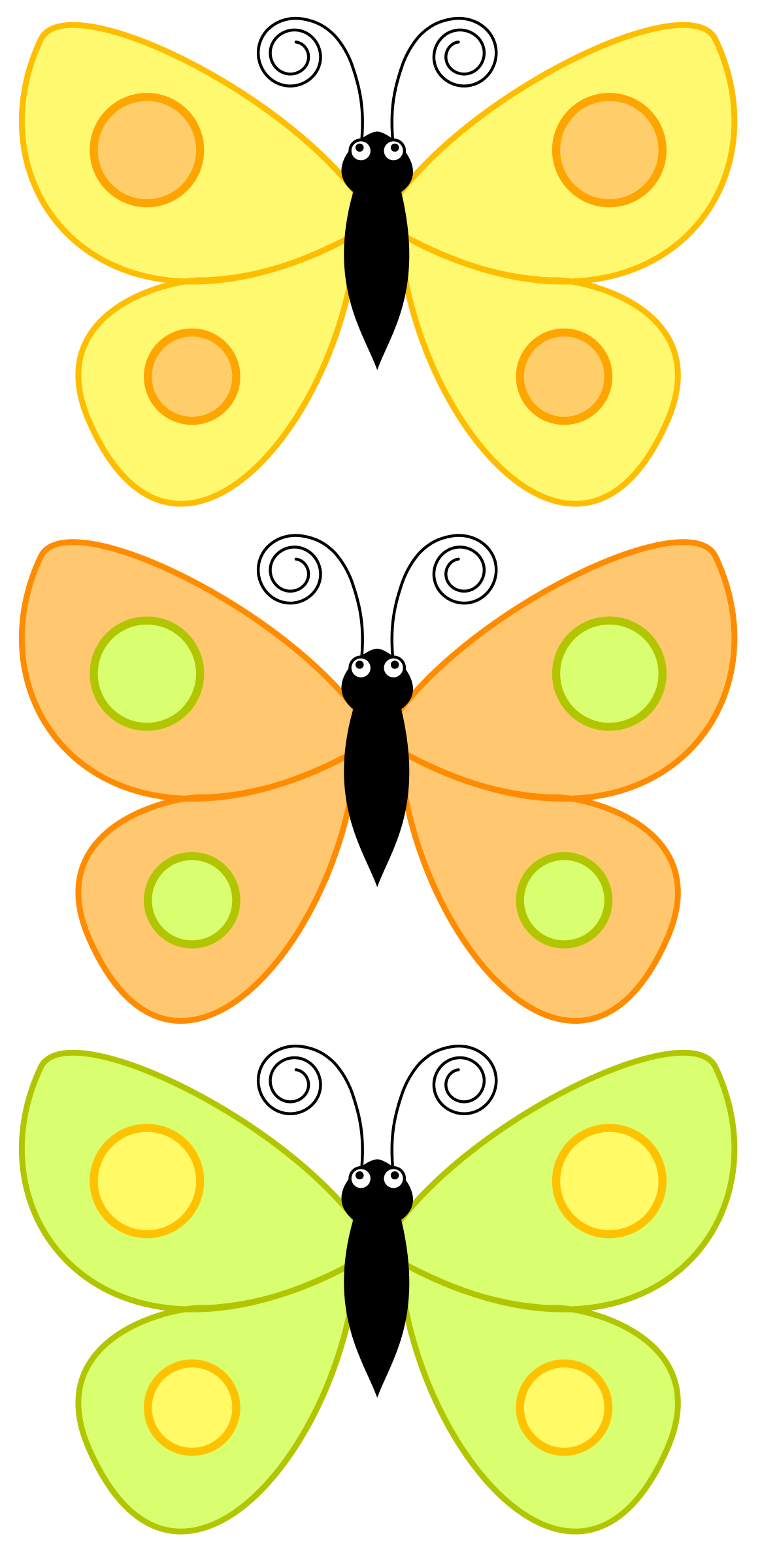 Cartoon dw big image. Circle clipart butterfly