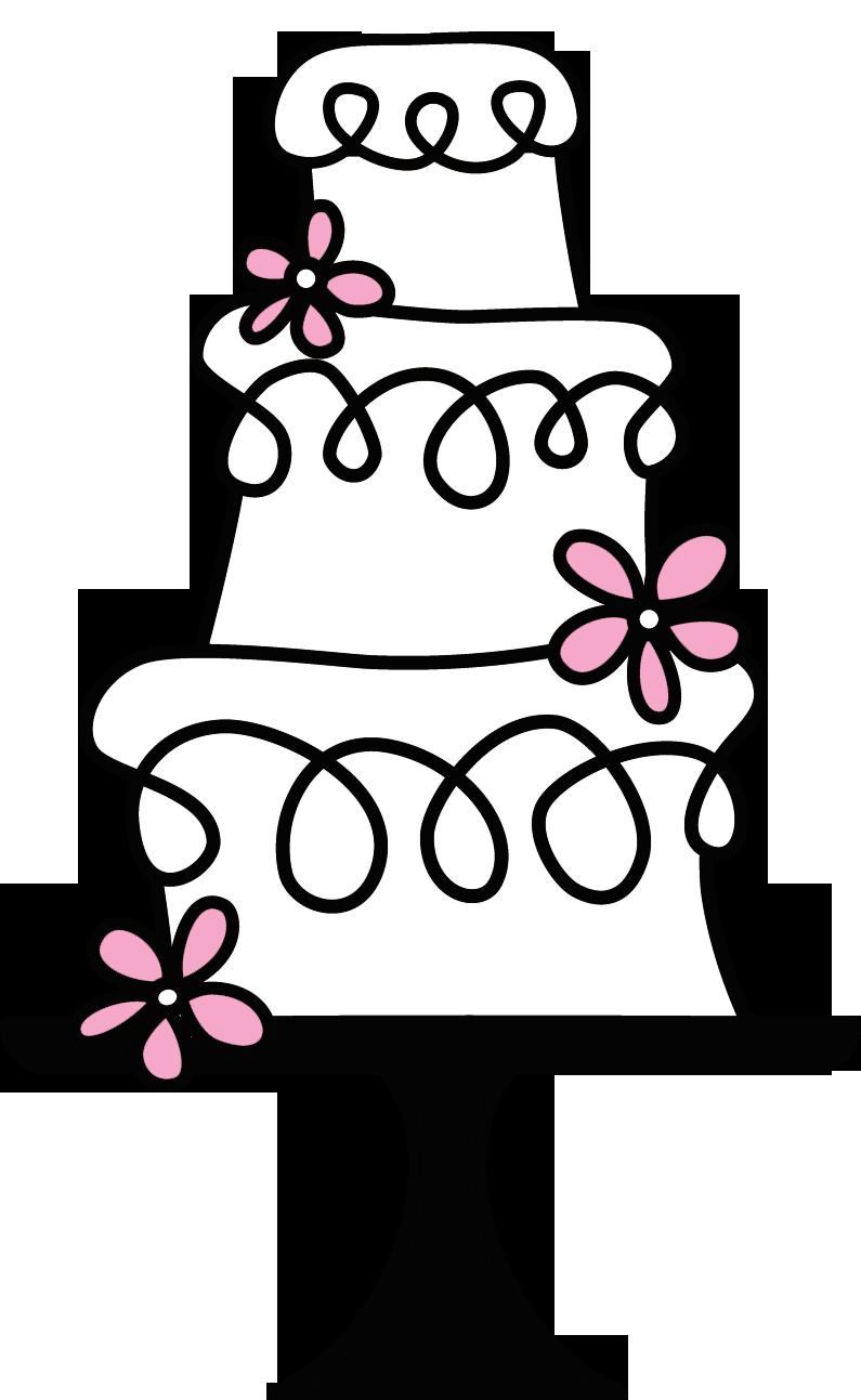 Wedding logos pinterest. Logo clipart cake