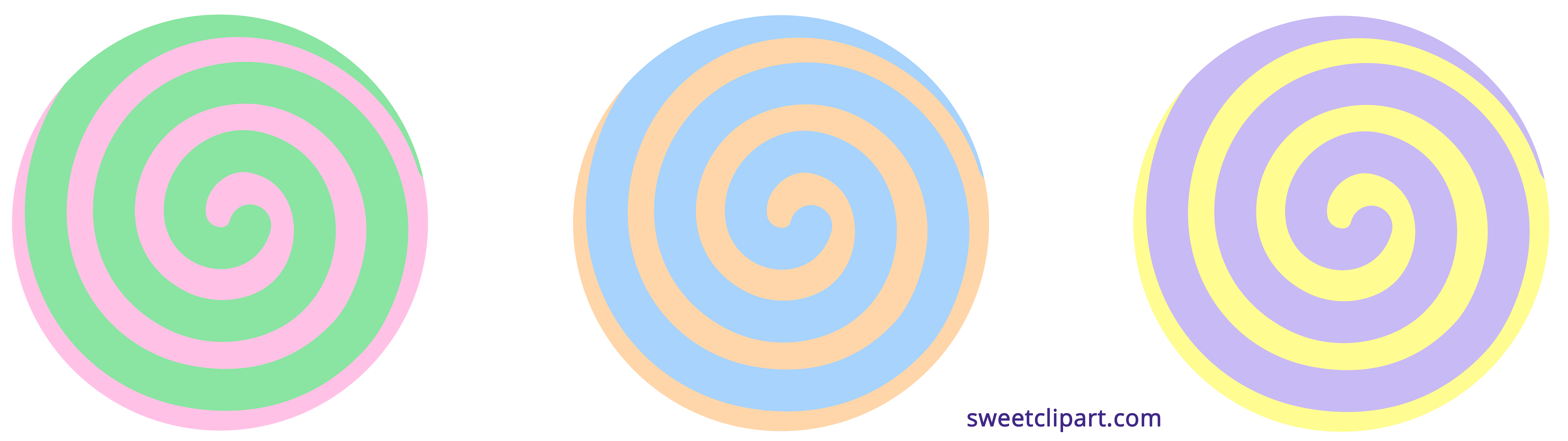 Circle clipart candy. Pastel spiral sweet clip