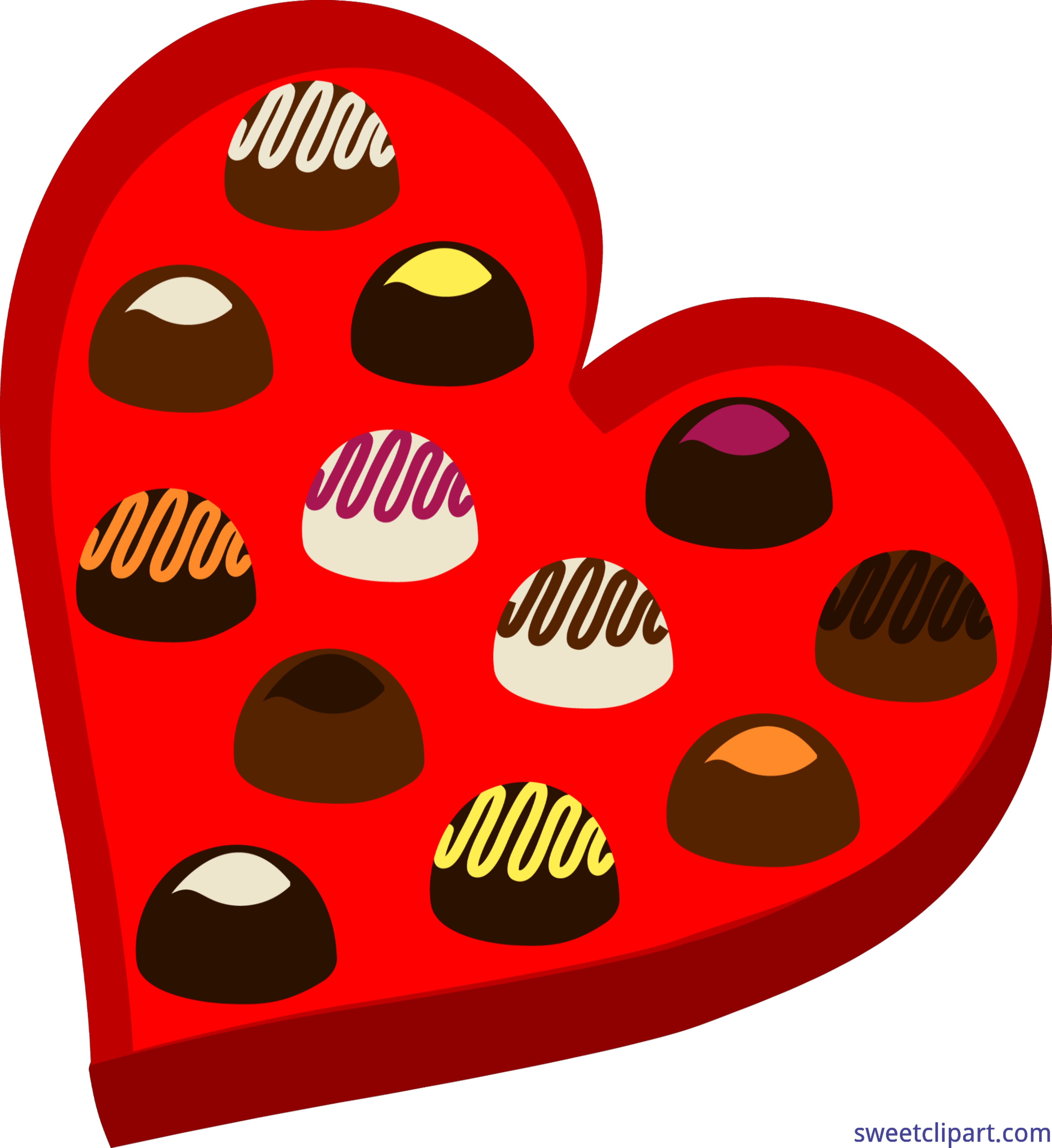 Valentine clipart chocolate. Valentines heart box clip