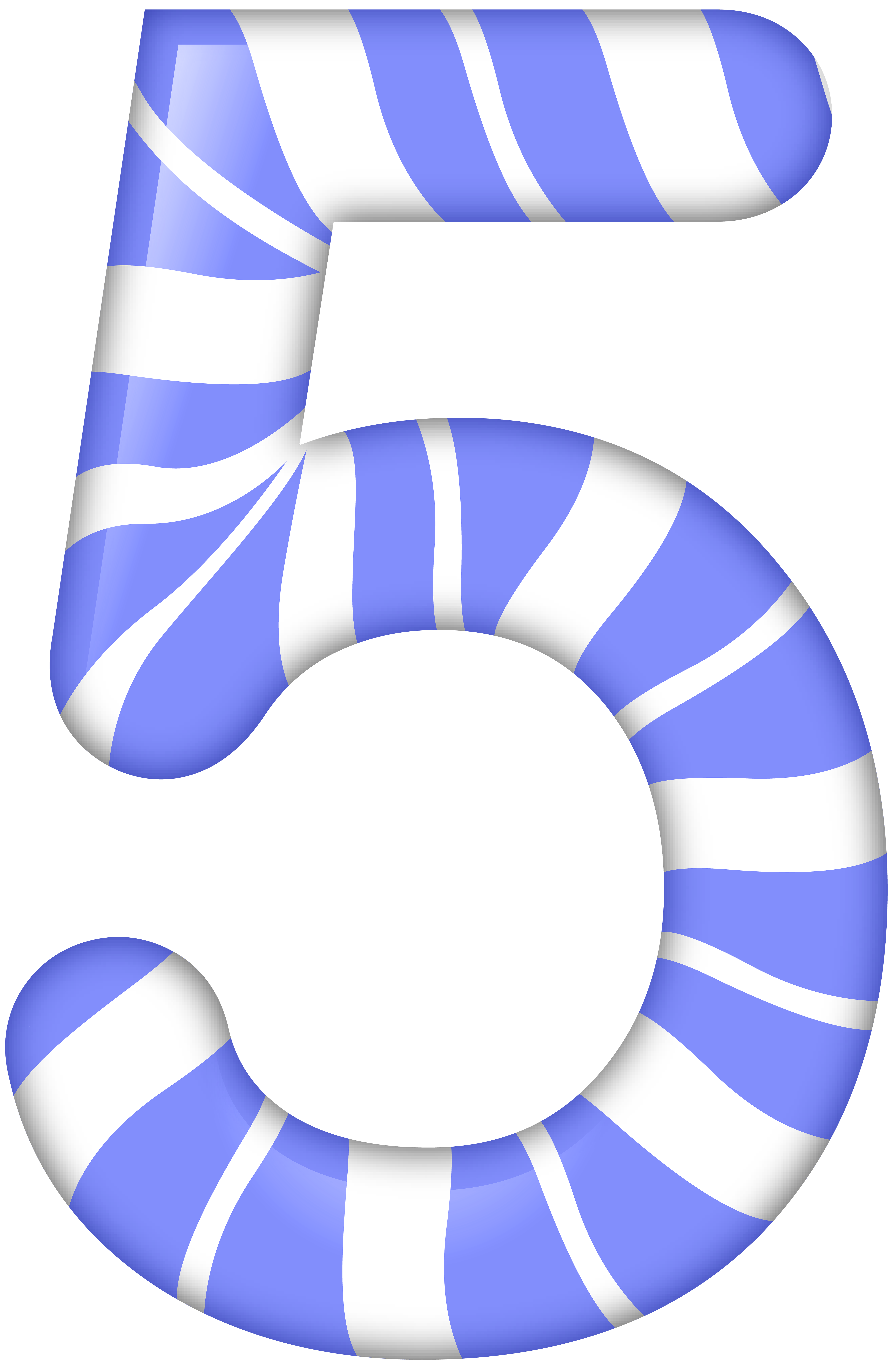 Number five style png. Clipart numbers candy
