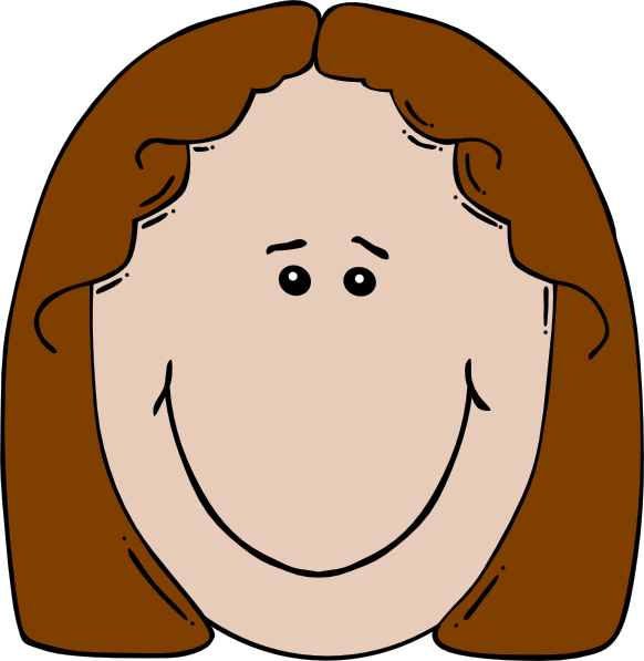 Girl face clip art. Circle clipart cartoon