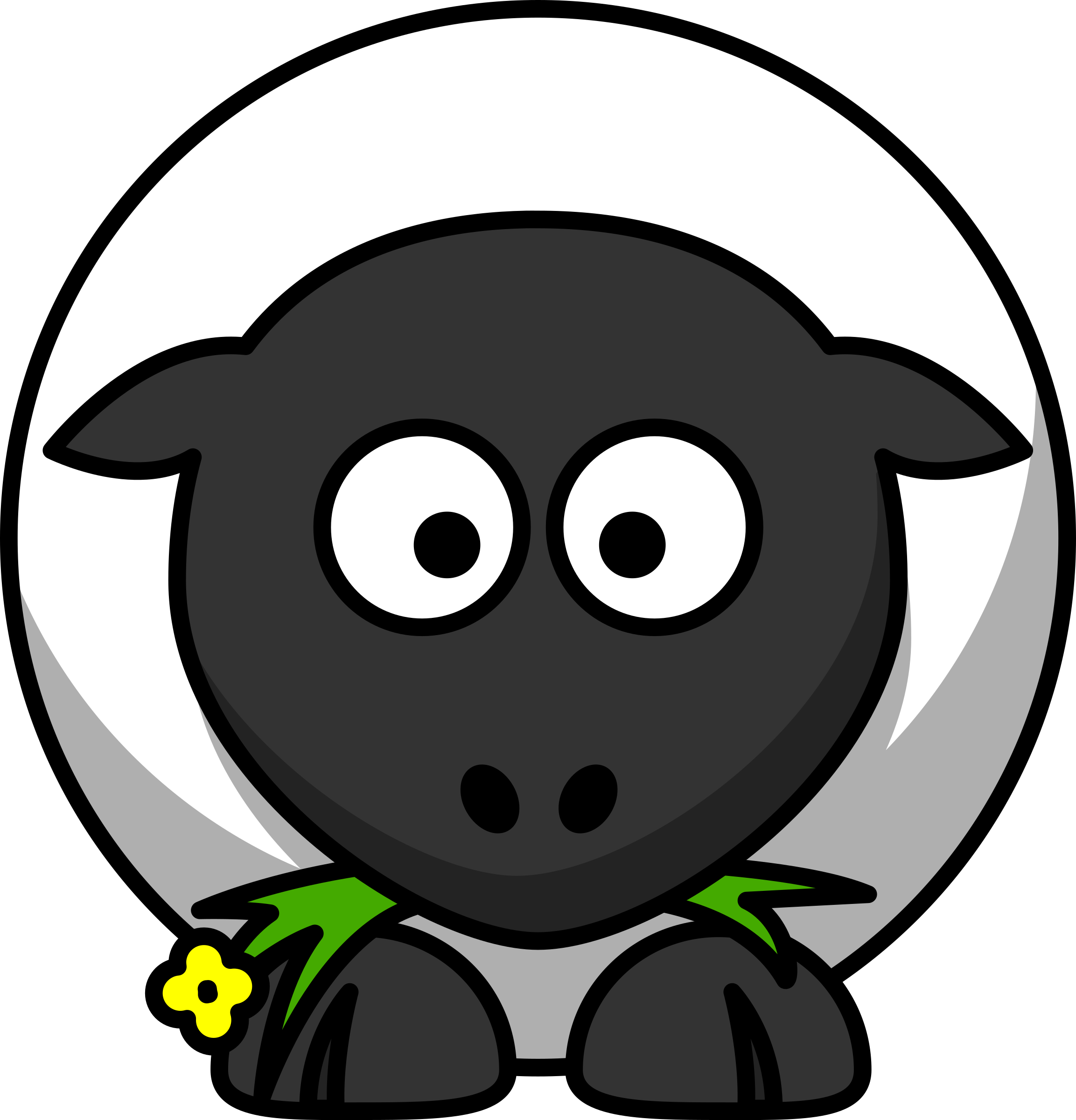 Circle clipart cartoon. Sheep big image png