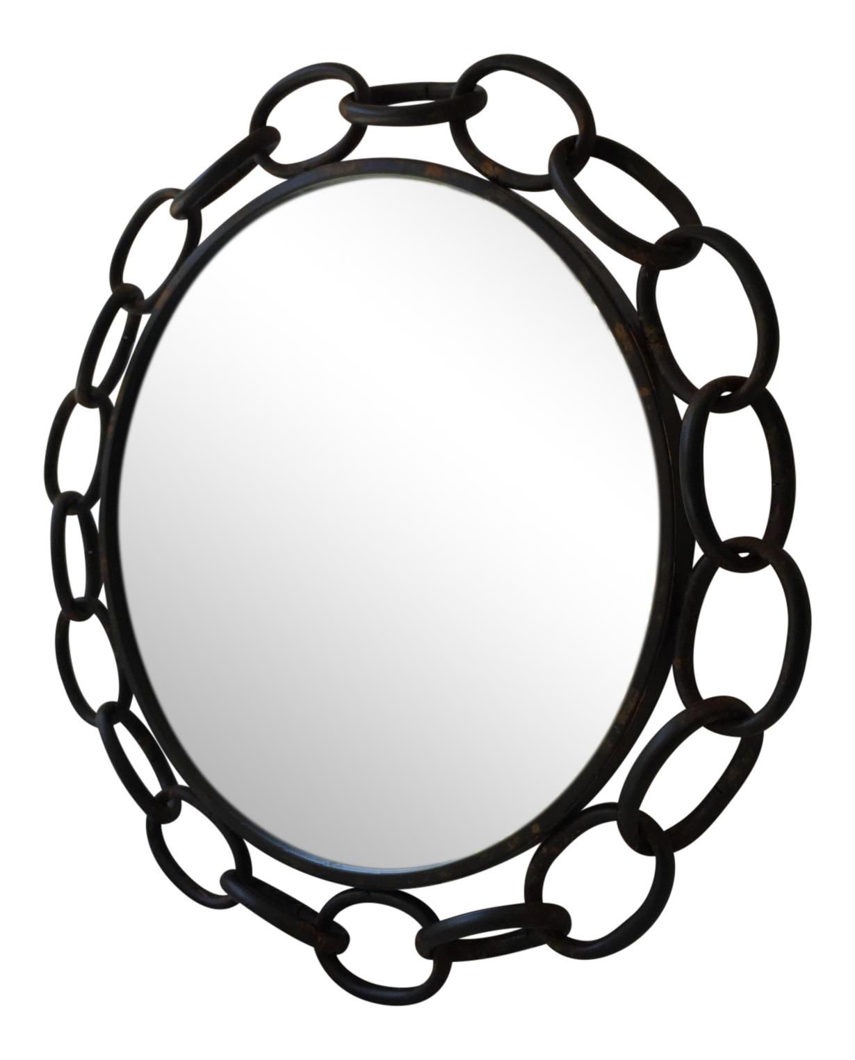 Metal mirror chairish . Circle clipart chain link