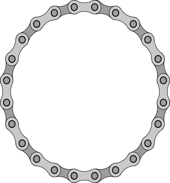 Circle clipart chain link. Links clip art at
