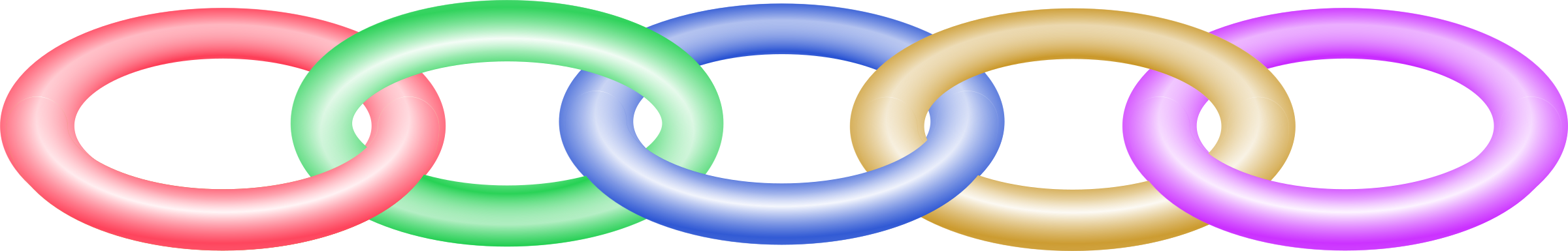 Circle clipart chain link. Muticoloured big image png