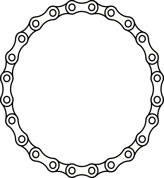 Links clip art at. Circle clipart chain link