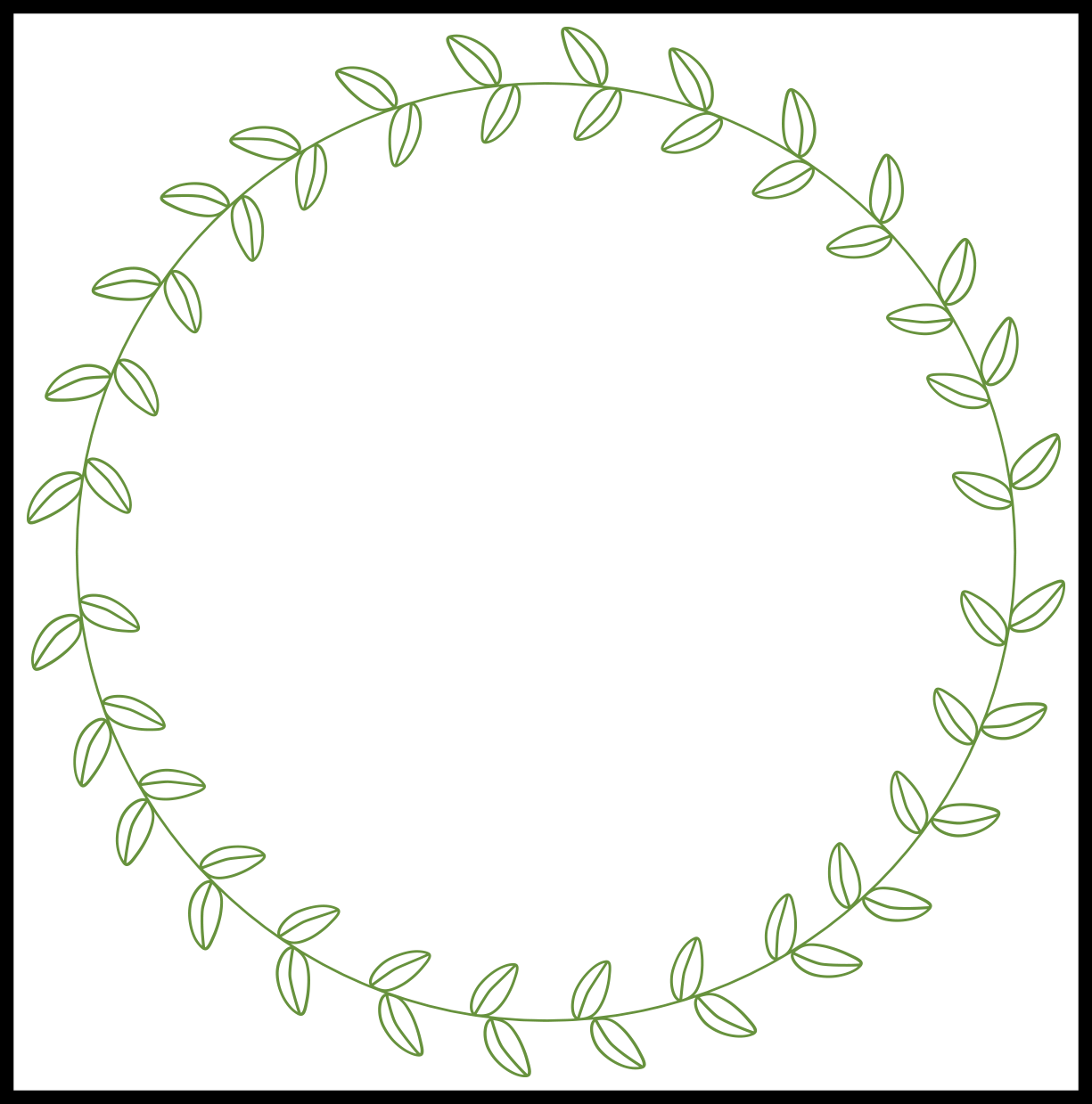 Amazing Circle Leaf Border Chalkboard Inspiration For Sunflower