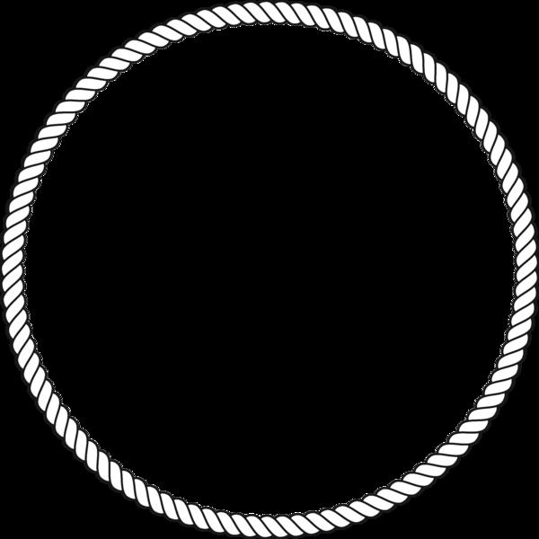 Square clipart rope. Circle border acur lunamedia