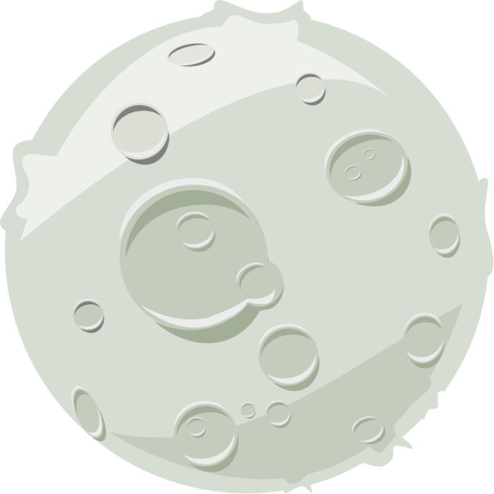 Clipart moon lunar. Graphics of moons phases