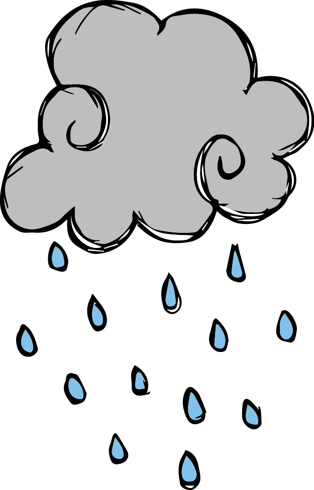 Weather images for kids. Melonheadz clipart rain