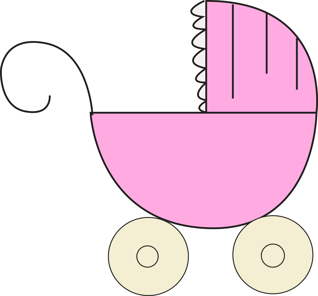 Its a baby girl. Circle clipart child